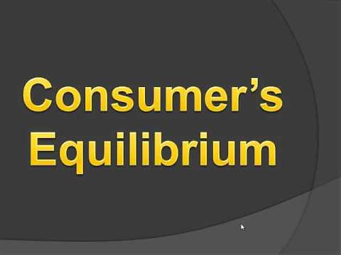 Consumer's Equilibrium (Hindi)