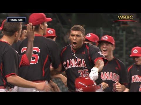 Highlights: Canada v USA - U-18 Baseball World Cup 2015