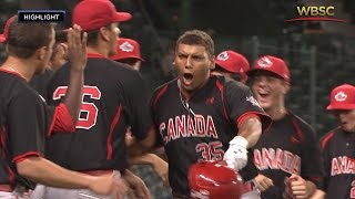 Highlights: Canada v USA - U-18 Baseball World Cup 2015
