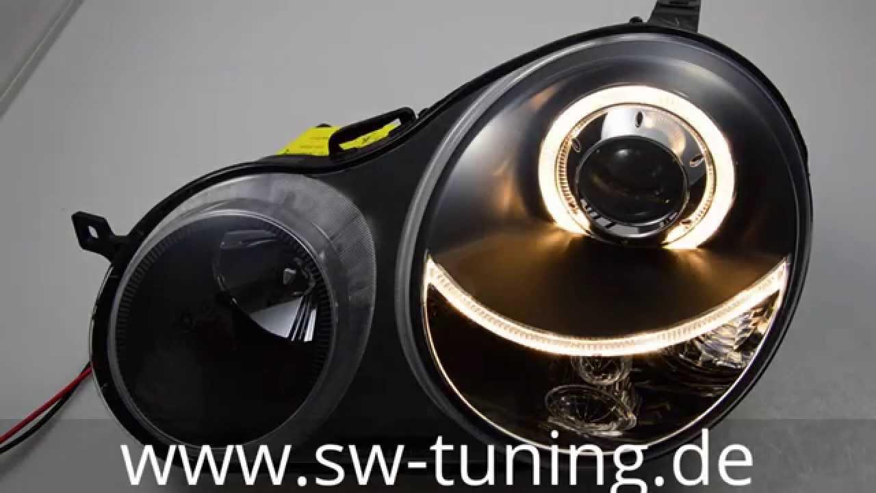 angel eye scheinwerfer f r vw polo 9n schwarz sw tuning. Black Bedroom Furniture Sets. Home Design Ideas