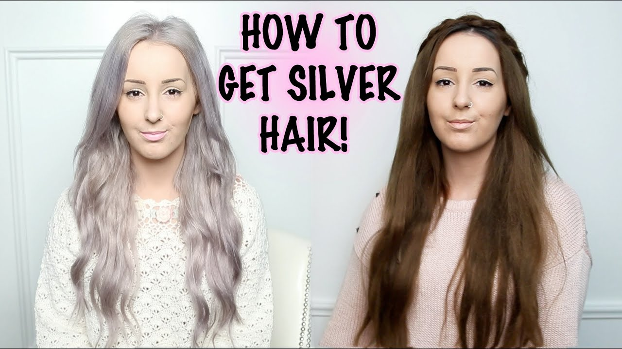 how to: silver hair tutorial! | by tashaleelyn - youtube