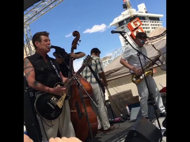Roddy Radiation and the Skabilly Rebels playing the Punk Rock Bowling pool party 5-30-2016