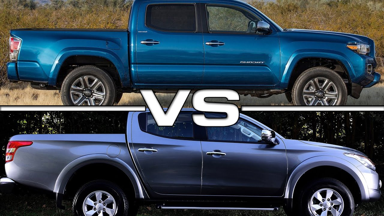 2016 toyota tacoma 4x4 vs 2016 mitsubishi l200 youtube. Black Bedroom Furniture Sets. Home Design Ideas