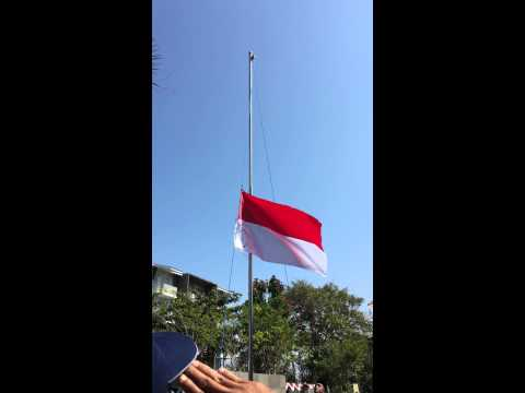 The Raising Of Indonesia's Flag On Independence Day; 17 August 2015