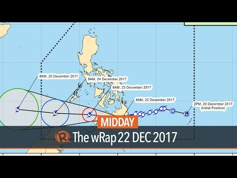 Vinta slightly weakens as it crosses Davao Region