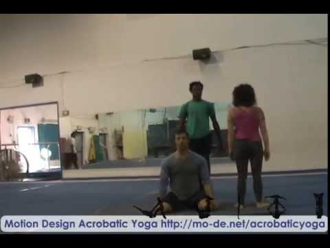 Acrobatic Yoga Practice Session -W- Coach Erin and Nick