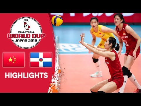 CHINA vs. DOMINICAN REPUBLIC - Highlights   Women's Volleyball World Cup 2019