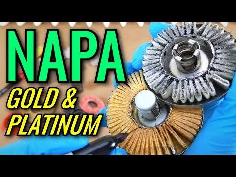 NAPA Gold & Platinum Oil Filters Cut Open!
