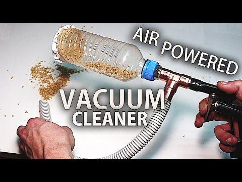 How to Make an Air Powered Mini Vacuum Cleaner - Venturi Effect