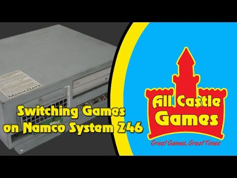 How to switch games on the Namco 246 arcade system