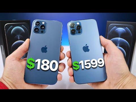 $180 Fake iPhone 12 Pro Max vs $1,599 12 Pro Max! (NEW)