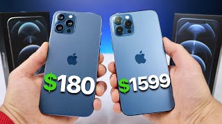 $180 Fake iPhone 12 Pro Max vs $1,599 12 Pro Max! (NEW)