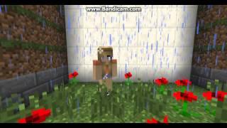 Minecraft kısa film   Minecraft ta kız gören adam Fail ler var dır
