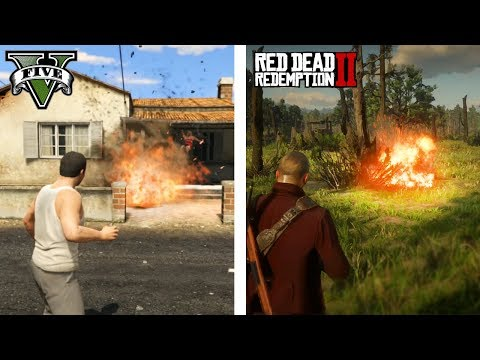 GTA V vs Red Dead Redemption 2 (Comparativa gráfica)