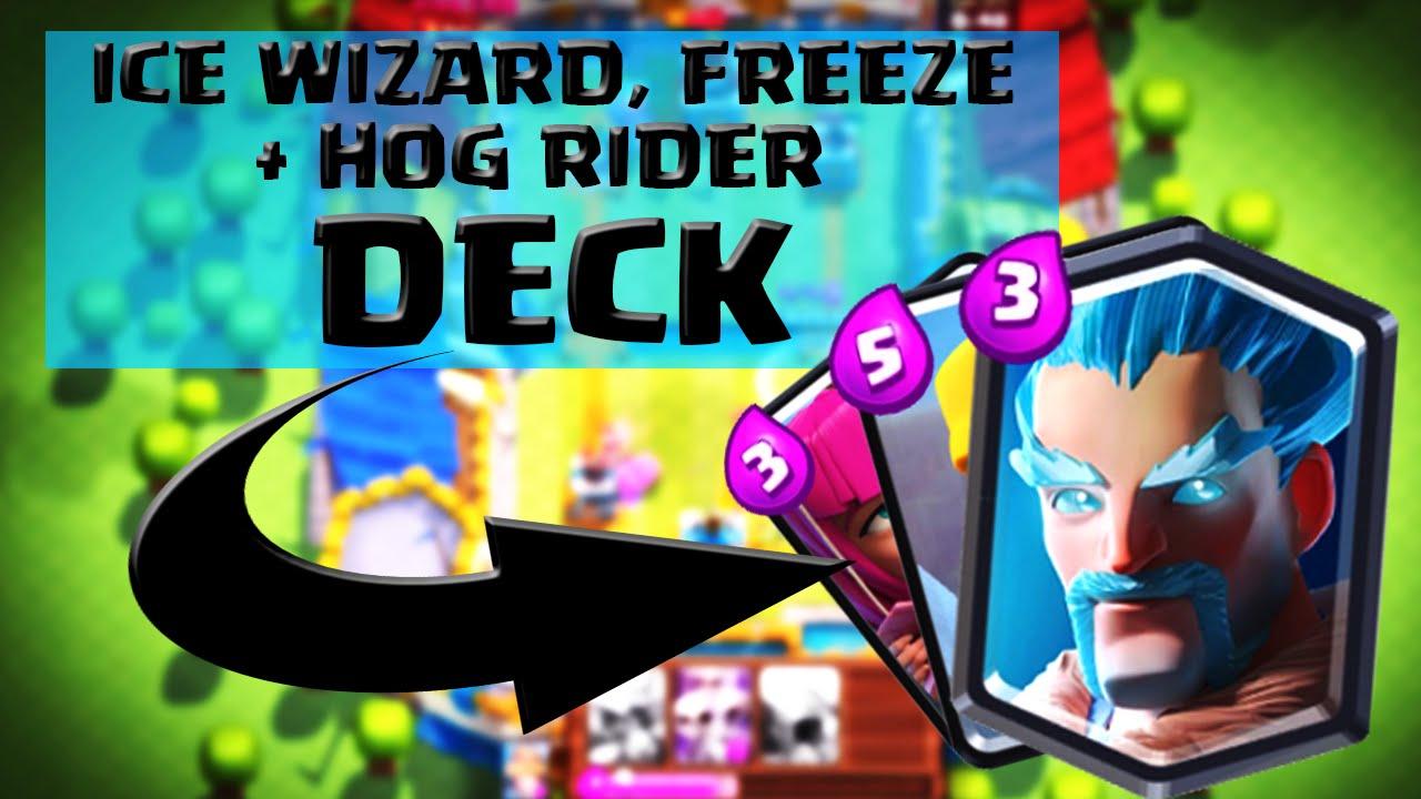 ice wizard deck clash royale arena 8 deck clash