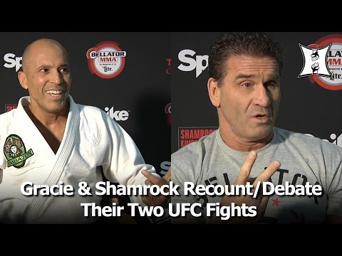 Bellator's Royce Gracie & Ken Shamrock Recount UFC 1 and UFC 5; Debate Rules + Strategy