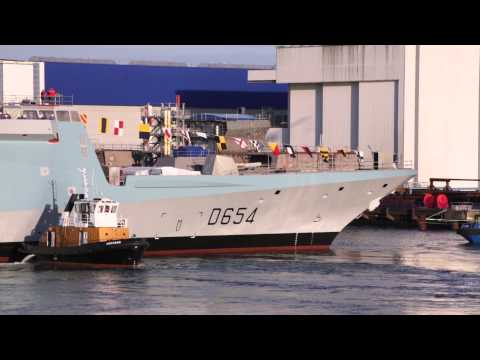 DCNS Launched its 6th FREMM multi-mission frigate, Auvergne for the French Navy