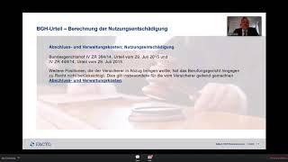 Verway Facto Webinar vom 26 04 2018 Lebensversicherungsrückabwicklung