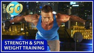 Strength & Spin Weight Training Workout: BeFiT GO- 20 Min