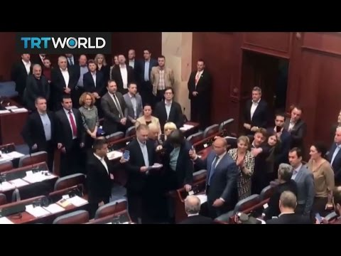 Macedonia Political Crisis: Protesters attack members of parliament
