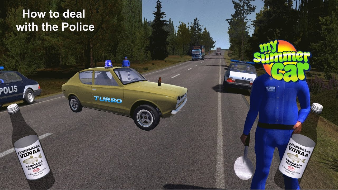 how to deal with a police control my summer car youtube. Black Bedroom Furniture Sets. Home Design Ideas