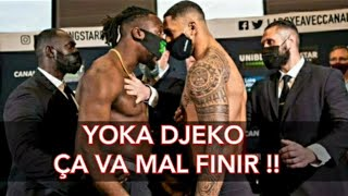 La pesée avant combat Tony Yoka vs Joel Tambwe Djeko
