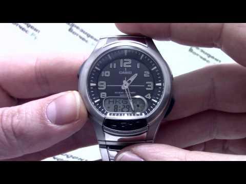 Часы Casio Illuminator AQ-180WD-1B - Видео обзор и инструкция от PresidentWatches.ru