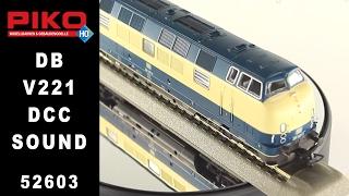 piko 52604 db diesel locomotief v 221 137 3 dcc digitaal sound 1 87 h0 esu