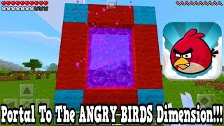 Minecraft Pe - Portal To The Angry Birds Dimension - Mcpe Portal To The Angry Birds!!!