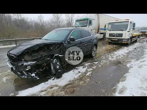На трассе М-2 в Тульской области столкнулись два десятка машин