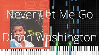 🎹 Never Let Me Go, Dinah Washington, Synthesia Piano Tutorial