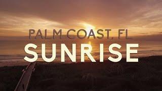 Palm Coast, FL Ocean Sunrise Cinematic Drone (DJI Phantom 3 Standard)