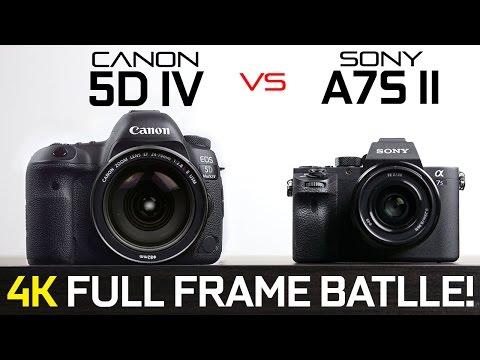 Canon 5D Mark iV vs Sony A7s ii - Full Frame 4k Camera Showdown!