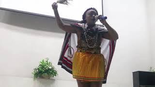 Queentee singing Mkhuluwa