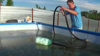 видео Бетонный бассейн – уход