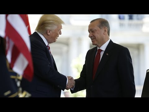 Trump meets with Turkish leader in DC amid protests
