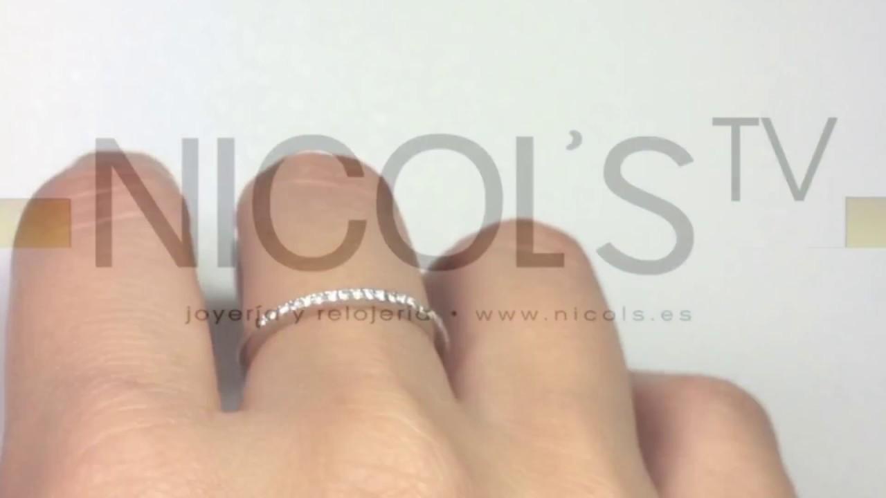 ba71f614b0f7 Anillo Diamantes Media Alianza Nicols DIAMOND CLASSIC 14710861111 ...