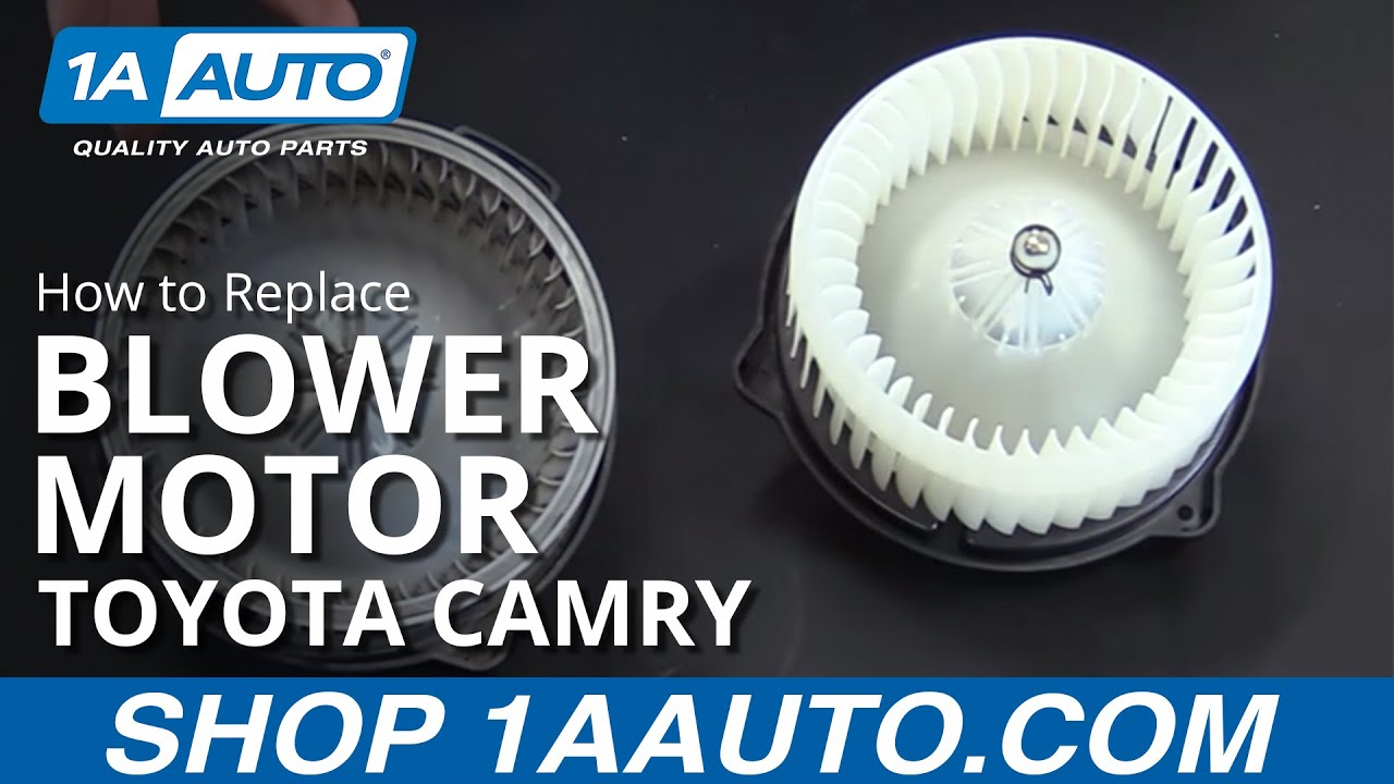 medium resolution of how to replace install blower motor 97 01 toyota camry