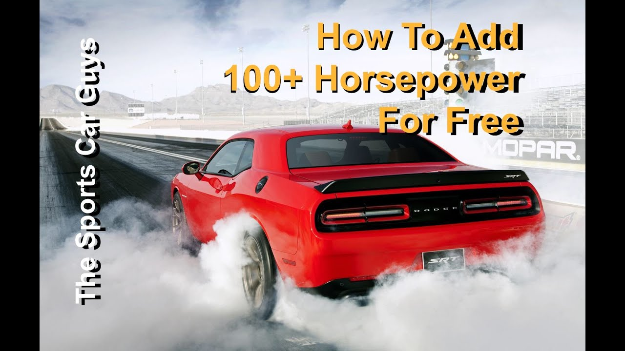 amazing cheap ways to add horsepower #2: Adding 100+ Horsepower To Any Car For Free