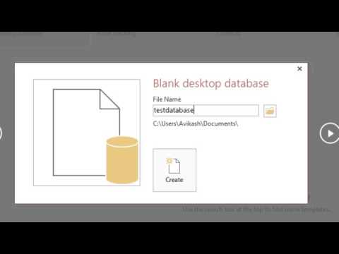 Microsoft Access 2013 Full Tutorial   Part 1