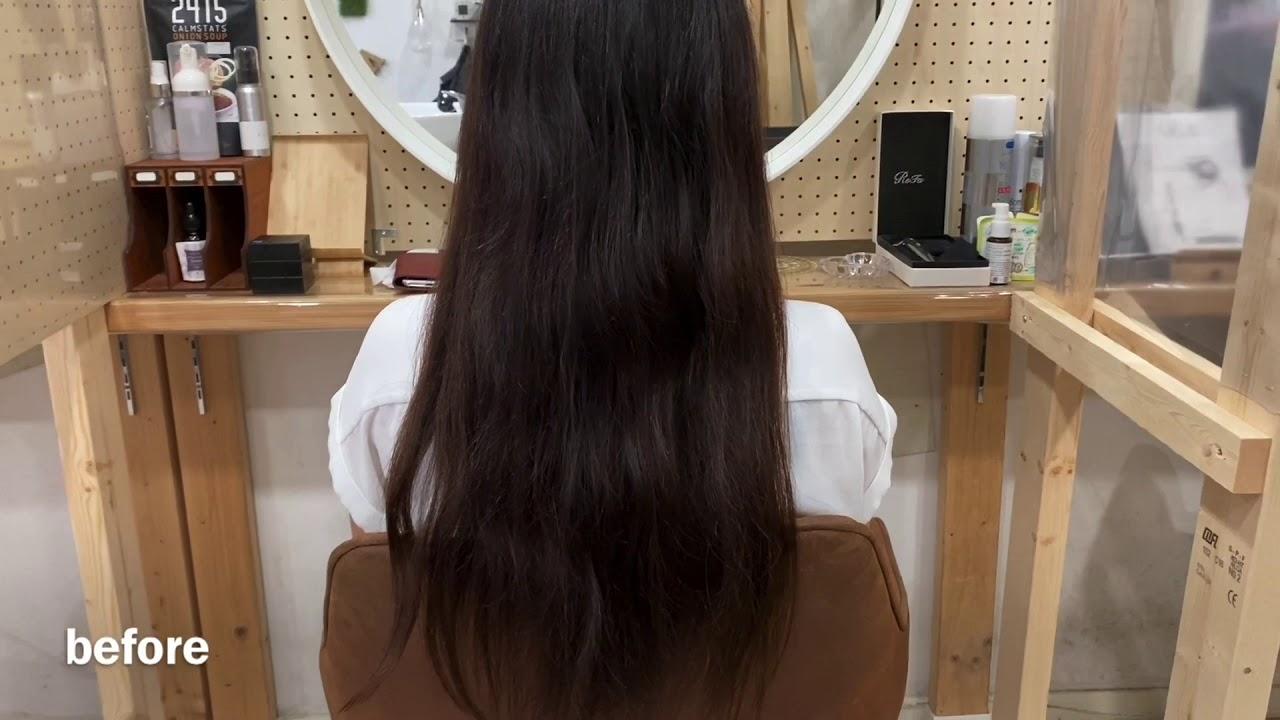 原宿・表参道の美容室【AnFye】ツヤ髪に変化♪♪ビフォーアフター