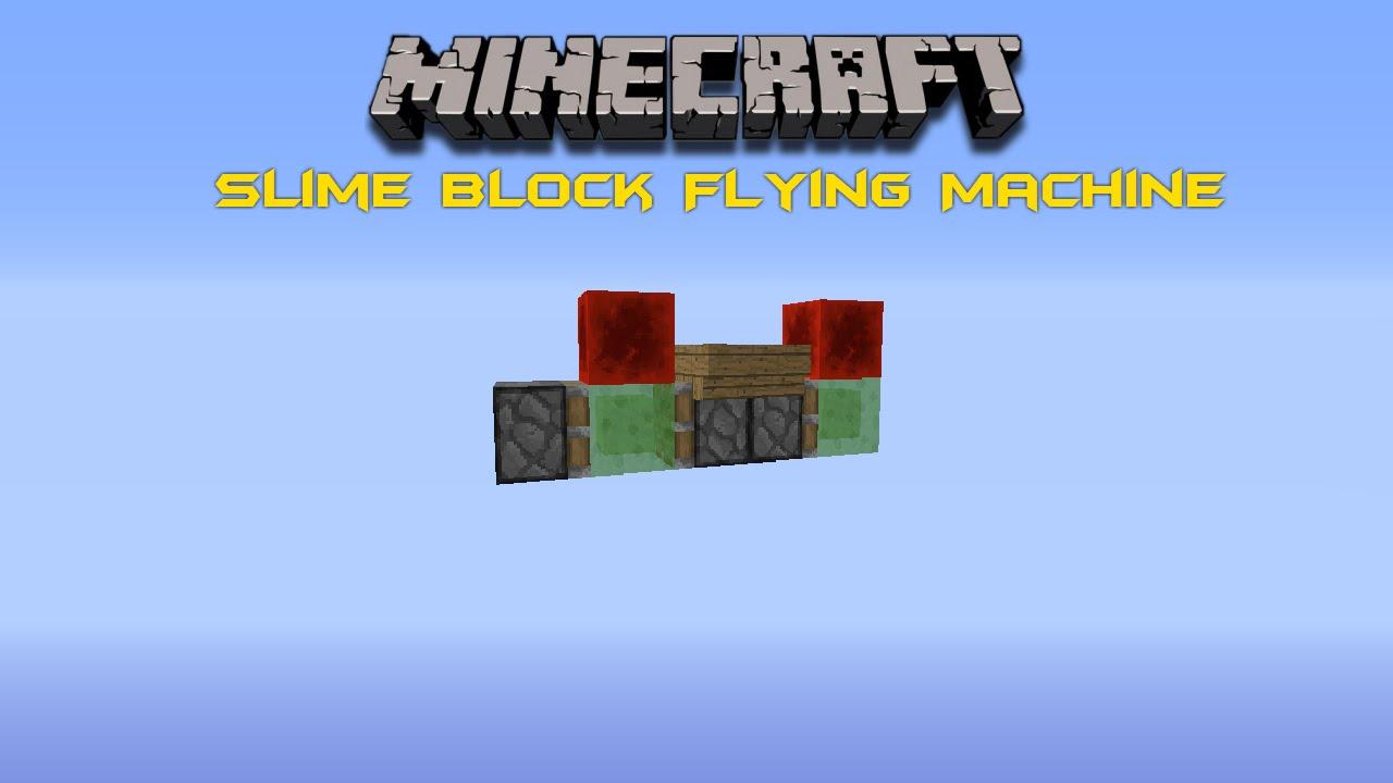 Minecraft: Slime Block Flying Machine [ Mesin Terbang