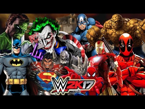 Marvel vs DC | 30 MAN ROYAL RUMBLE WWE 2K17