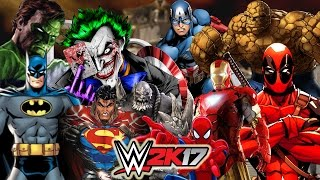 Marvel vs DC   30 MAN ROYAL RUMBLE WWE 2K17