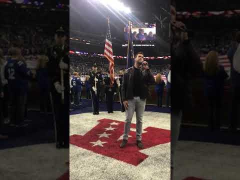 Ben Utecht National Anthem Colts vs. Dolphins 11-10-19