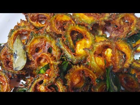 How to make Crispy Bitter Gourd Fry    Karela Fry Recipe Video   Tasty Bitter Gourd Indian style  