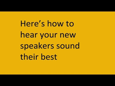 How to get the most out of your new speakers