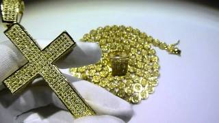 lemonade combo 15 lab made yellow diamond pave cluster chain avalon ring concave cross gucci