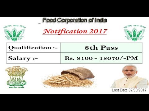Food Corporation of India 463 Post Recruitment 2017 ! How To Apply ! Hindi