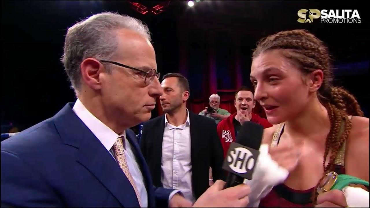 Ebanie Bridges : Boxing star Ebanie Bridges continues